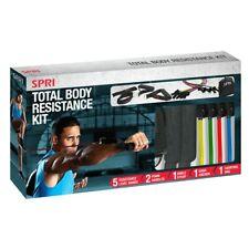 SPRI Total Body Resistance Band Kit Fitness Training Exercise Light Medium Heavy