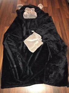 Childs Hooded Gorilla Snuggle Blanket