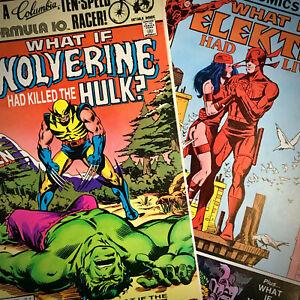 WHAT IF...? #31 Wolverine Had Killed Hulk 5.0 VG/F #35 Elektra had Lived? 8.0 VF