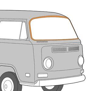 1968-1979 Volkswagen Bay Window Bus Windshield Seal Cal-Look 384608