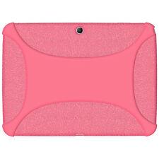 Amzer Soft Rubber Skin Fit Case Cover for Samsung Galaxy Tab 3 10.1 Baby Pink