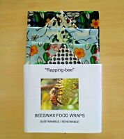 Beeswax Food Wraps. 6 Pack 3@ 28x25 3 @ 20x20cm. Australian Made.