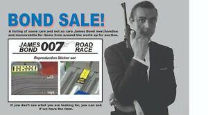 James Bond 007 Gilbert Race Set Reproduction Sticker Set - Last One!