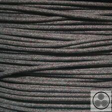 Textilkabel Stoffkabel Lampen-Kabel, Baumwolle Schwarz Weis Bordaux 3adrig