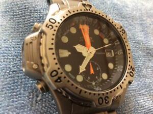 CITIZEN SPORTE 5810-F80120TA Date Titanium Quartz Black Dial Watch