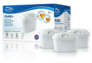Water Filter Cartridge Compatible with Brita Maxtra Plus+ fit Style, Fill 3pk