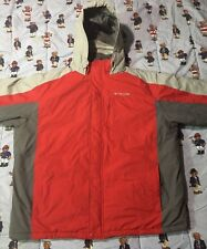 Columbia Sportswear Winter Jacket Grey and Red, Size XXL Snow/Rain resist Coat.