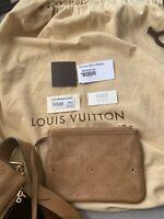 Louis Vuitton Selene Caramel Handbag Mahina Leather MM - Mint condition