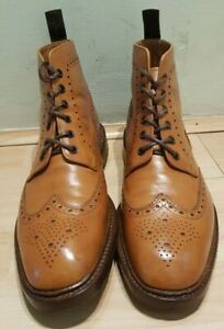 Loake Burford Brogue Boots in Tan UK 10 US 11 1880 Made in England calf leather