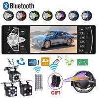 4.1'' Single 1DIN Car Stereo Radio Bluetooth FM MP5 MP3 Player USB AUX Handsfeee