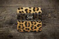 Personalised Leopard Print  Novelty Photo Glossy Mug Square Coaster ,Office Gift