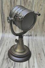 Antique Collectible Spotlight Desk Lamp Searchlight W/Base Nautical Home Decor