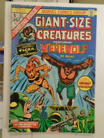 Giant Size Creatures #1, VG- 3.5, 1st Appearance Tigra; Marvel Value Stamp
