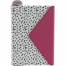 2017 2018 Monthly Weekly Planner Agenda School 18 Months Eccolo Pink Black Dots