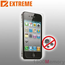 Extreme Gloss Full Screen Guard Protector 2Pack Apple iPhone 4 4S Anti Bacterial