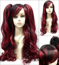 Harajuku Lolita Style Long Wavy Wig Removable Clip Ponytails Bangs Cosplay 30""