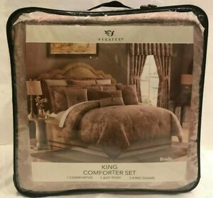 VERATEX LUXURIOUSLY OVERSIZED COMFORTER SET! BRIELLE KING!  BRAND NEW!