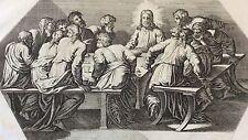 Nicolas CHAPRON ou CHAPERON 1612-1653 d'après RAPHAEL La Cène Jésus XVIII