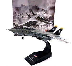 Wltk US Navy Grumman F-14A Tomcat Jolly Rogers Fighter 1/100 Diecast Model