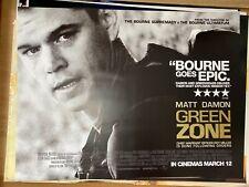 Green Zone (2010) Starring Matt Damon Original UK Quad Film Poster