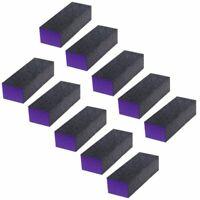 10 Pcs 3-Sided Buffer Block Files Acrylic Pedicure Sanding Manicure Nail  Tips