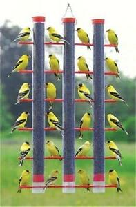 SONGBIRD ESSENTIALS FINCHES FAVORITE 3-TUBE NYJER THISTLE FEEDER, SE324      /dm