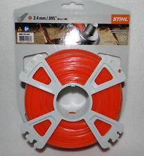 Stihl  Mähfaden quadratisch    0000 930 2641    orange   2,4 mm x 86 m,   NEU!!!