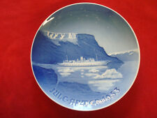 "1953 BING & GRONDAHL B&G CHRISTMAS PLATE  "" BOAT OF THE KING OF DENMARK """