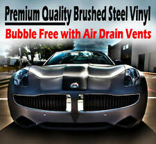 2 x A4 Sheets Air Drain Metallic Brushed Steel Vinyl Film - Car Wrap Sticker