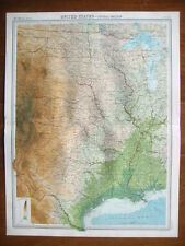 UNITED STATES CENTRAL ORIGINAL COLOUR MAP FROM 1922
