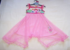 Disney Princess Girls Pink Printed Mesh Trim Nightie Size 3 New
