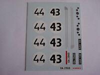 DECALS KIT 1/43 Saab 93 Le Mans 1959 N.43-44 2 VERSIONI