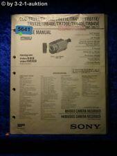 Sony Service Manual CCD TR845E TR411E TR412E TR511E TR512E TR640E TR840E (#5641)
