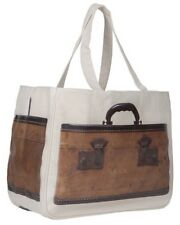 NWT Vintage Train Case Print Together Tote Bag Medium