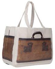 NWT Vintage Train Case Print Together Tote Bag Medium