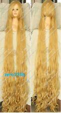 180cm lengthen Extra Bang Heat Resistant blonde Cosplay  Wavy Wig