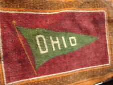 Old antique Ohio state football tobacco cigarette felt pennant flannel carpet