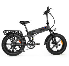 "20"" 48V 500W Fat Tire Electric Mountain Bike Adults City Folding Bicycle 8 Speed"