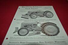 Ford Tractor Blackhawk Bulldozer Dealers Brochure AMIL15
