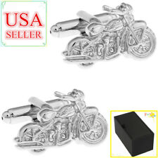 Fashion Men Cufflinks Silver Motorcycle Cuff Links With Gift Box