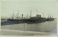 MELBOURNE, PRINCES PIER, PORT MELBOURNE, VICTORIA RARE EARLY 1900'S POSTCARD.