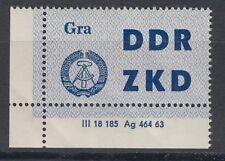 DDR Dienstmarke 6 DV 2 ** postfrisch Druckvermerk