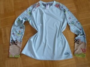 The North Face Damen Shirt Langarmshirt Gr. M/M hellblau Unterziehshirt stretch