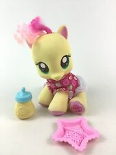 """My Little Pony Talking Newborn Fluttershy Baby 9"""" Plush Doll with Accessories"""