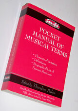 Sam Ash Edition of Schirmer Pronouncing Pocket Manual of Musical Terms 5th Ed.