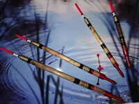 X4 Handmade Scorched Reed Waggler Floats Coarse Fishing Vintage Traditional