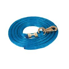 Solid Poly Lead Rope Bull Snap for Horses Navy Broken in