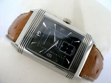 JAEGER LE COULTRE REVERSO DUAL TIME DUOFACE DAY & NIGHT 18K ORO BIANCO