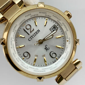 CITIZEN EC1042-51A xC Eco-Drive Cross Sea Eco-Drive Ladies Good Condition Japan