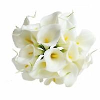 10pcs Calla Lily Bridal Wedding Party Decor Bouquet Latex Touch Flower Bunch
